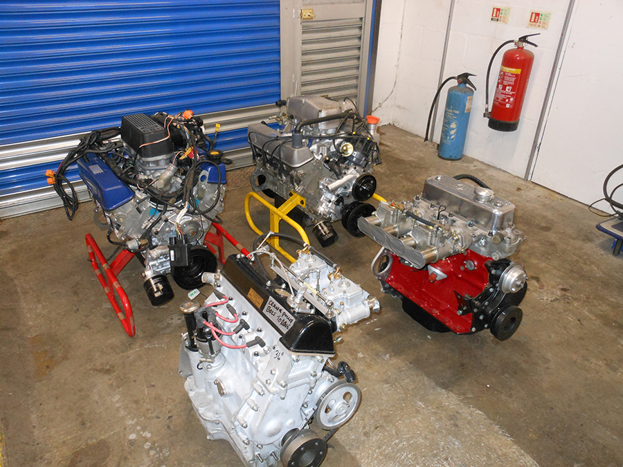 Rbuilt engines at Track and Classic workshop