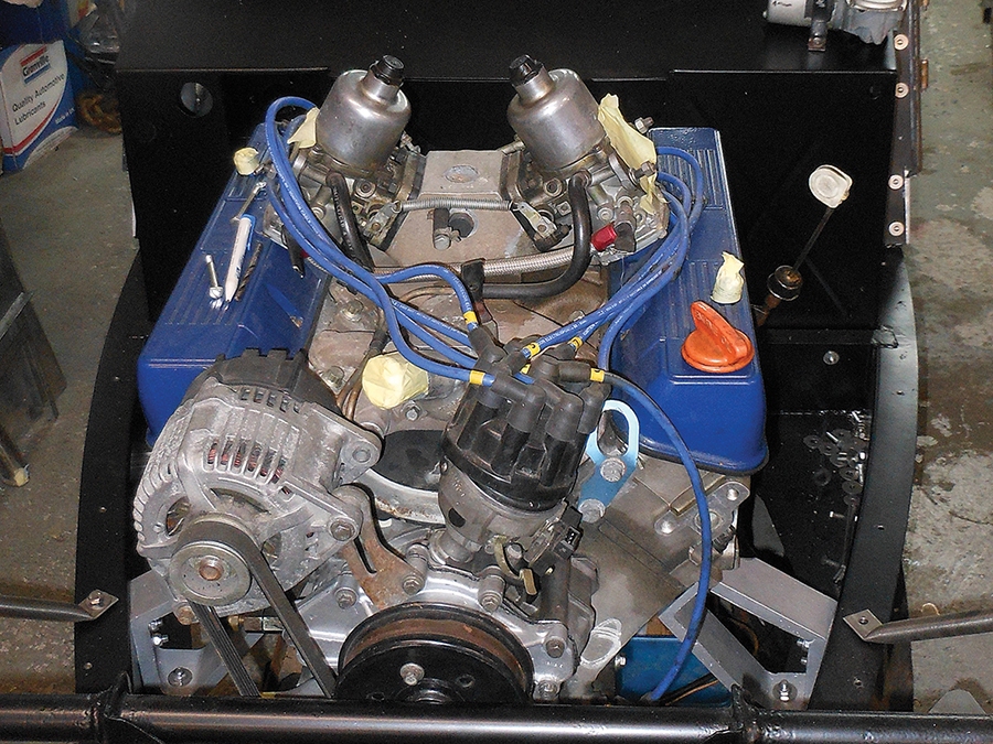 Engine installed in Morgan Plus 8